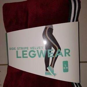 Pants - BNIP LG VELVET LEGGINGS